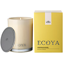 Buy Ecoya Madison Jar Lemon and Ginger Candle Online at johnlewis.com