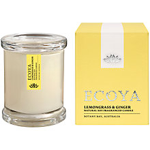 Buy Ecoya Mini Metro Lemon and Ginger Candle Online at johnlewis.com