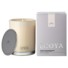 Buy Ecoya Madison Jar Coconut and Elderflower Candle Online at johnlewis.com
