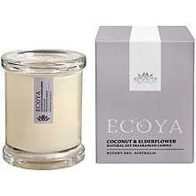 Buy Ecoya Mini Metro Jar Coconut and Elderflower Candle Online at johnlewis.com