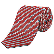 Buy Jaeger Tram Stripe Silk Tie, Red Online at johnlewis.com