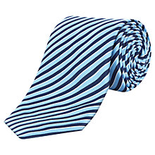 Buy Jaeger Highlight Stripe Silk Tie Online at johnlewis.com