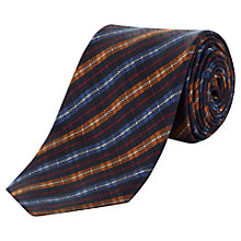 Buy Jaeger Herringbone Stripe Silk Tie, Navy/Multi Online at johnlewis.com