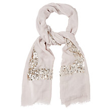 Buy Phase Eight Lizzie Sequin Scarf, Silver Online at johnlewis.com