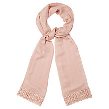 Buy Phase Eight Jill Lace Pashmina, Sky Online at johnlewis.com