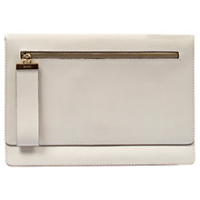 Buy Gerard Darel Flore Paris Clutch Bag, White Online at johnlewis.com