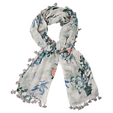 Buy Phase Eight Lori Pom Pom Scarf, Sky Online at johnlewis.com