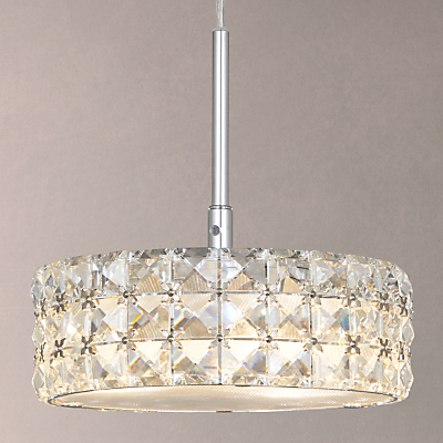 John Lewis Aurora Double Insulated Crystal Pendant Light, Small