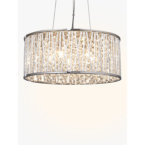 Buy john lewis emilia drum crystal pendant light john lewis for Kitchen lighting ideas john lewis