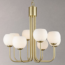 Buy John Lewis Levin 8 Bulb Ceiling Light, Brass / Opal Online at johnlewis.com