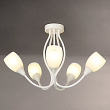 Buy John Lewis Mirage 5 Arm Ceiling Light, Distressed Ivory Online at johnlewis.com