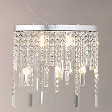 Buy John Lewis Crystal Waterfall Ceiling Light Online at johnlewis.com