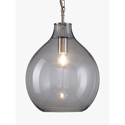 light ceiling pendant bowl shade with aluminium rods chrome glass