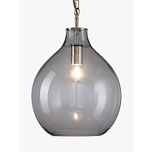 Buy John Lewis Croft Collection Amos Glass Ceiling Pendant Light, Blue Online at johnlewis.com
