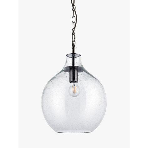 Buy John Lewis Croft Collection Selsey Glass Ceiling Pendant Light Blue John Lewis