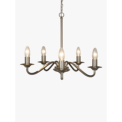 John Lewis Wakefield 5 Light Ceiling Light, Satin Nickel