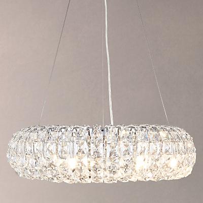 John Lewis Bangles Medium Pendant Light, Crystal and Chrome