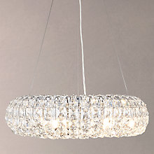 Buy John Lewis Bangles Medium Pendant Light, Crystal and Chrome Online at johnlewis.com