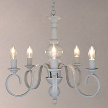 Buy John Lewis Carlita Ceiling Light, 5 Arm, Grey Online at johnlewis.com