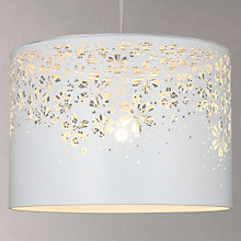 Buy John Lewis Lila Easy-to-Fit Floral Pendant Lampshade, White Online at johnlewis.com