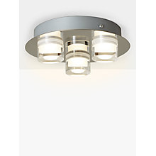 Buy John Lewis Presta Round Ceiling Light, Chrome Online at johnlewis.com