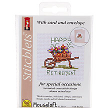 Buy Mouseloft Happy Retirement Cross Stitch Kit Online at johnlewis.com