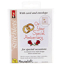 Buy Mouseloft Special Anniversary Cross Stitch Kit Online at johnlewis.com