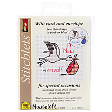 Buy Mouseloft Stork Cross Stitch Kit Online at johnlewis.com