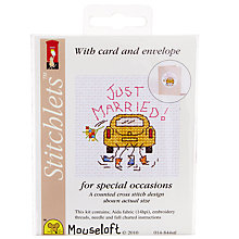 Buy Mouseloft Just Married Cross Stitch Kit Online at johnlewis.com