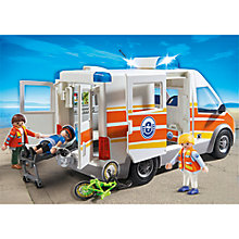 Buy Playmobil City Action Ambulance with Siren Online at johnlewis.com