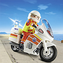 Buy Playmobil City Action Emergency Motorcycle with Light Online at johnlewis.com