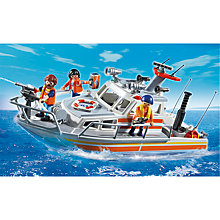 Buy Playmobil City Action Rescue Boat With Water Hose Online at johnlewis.com