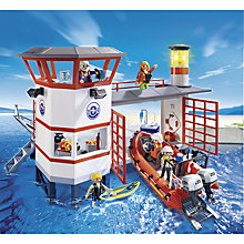 Buy Playmobil City Action Coastguard Station with Lighthouse Online at johnlewis.com