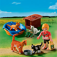 Buy Playmobil City Life Cat Family With Basket Online at johnlewis.com