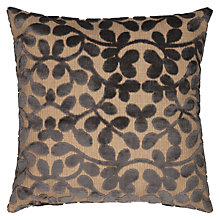 Buy John Lewis Velvet Leaf Cushion, Smoke Online at johnlewis.com