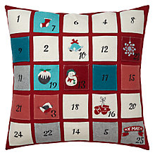 Buy John Lewis Advent Pockets Cushion Online at johnlewis.com