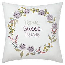 Buy John Lewis Home Sweet Home Cushion Online at johnlewis.com