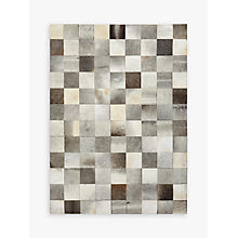 Buy John Lewis Grey Cowhide Tiles Rug Online at johnlewis.com