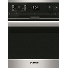 Buy Miele H6200 BP PureLine Single Compact Oven, Clean Steel Online at johnlewis.com