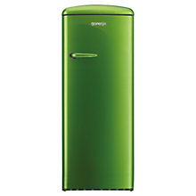 Buy Gorenje RB60299OGR Freestanding Fridge, A++ Energy Rating, Right-Hand Hinge, 60cm Wide, Green Online at johnlewis.com