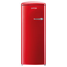 Buy Gorenje RB60299ORD-L Freestanding Fridge, A++ Energy Rating, Left-Hand Hinge, 60cm Wide, Fire Red Online at johnlewis.com
