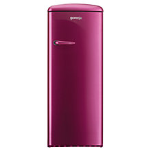 Buy Gorenje RB60299OP Freestanding Fridge, A++ Energy Rating, Right-Hand Hinge, 60cm Wide, Raspberry Pink Online at johnlewis.com