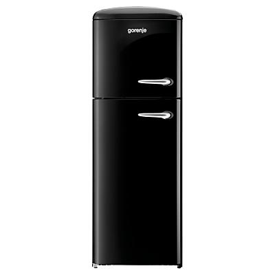Gorenje RF60309OBK-L Freestanding Fridge Freezer, A++ Energy Rating, Left-Hand Hinge, 60cm Wide, Black