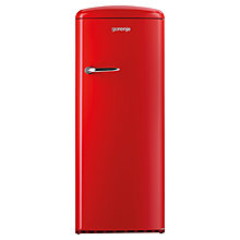 Buy Gorenje RB60299ORD Freestanding Fridge, A++ Energy Rating, Right-Hand Hinge, 60cm Wide, Fire Red Online at johnlewis.com