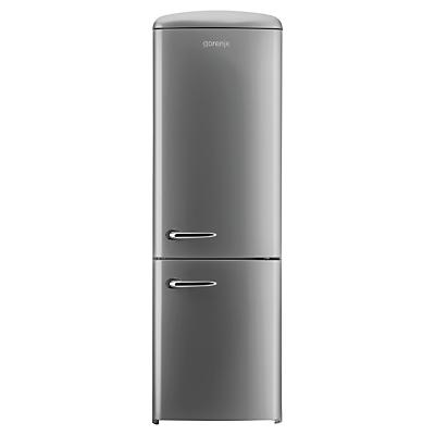Image of Gorenje RK60359OX Freestanding Fridge Freezer, A++ Energy Rating, Right-Hand Hinge, 60cm Wide, Silver