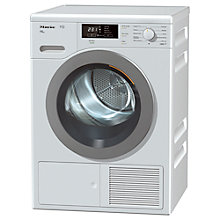 Buy Miele TKB 640 WP Freestanding Heat Pump Condenser Tumble Dryer, 8kg Load, A++ Energy Rating, White Online at johnlewis.com