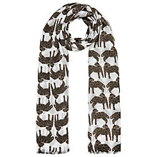 Buy John Lewis Friendly Leopard Scarf, Cream Online at johnlewis.com