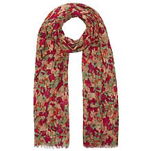 Buy John Lewis Blurred Floral Scarf, Red Online at johnlewis.com
