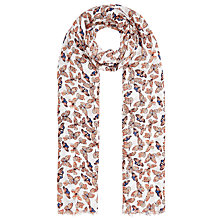 Buy John Lewis Butterfly Scarf, Orange Online at johnlewis.com