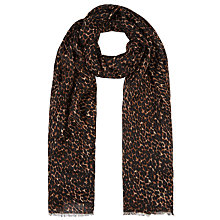 Buy John Lewis Leopard Print Scarf, Taupe Online at johnlewis.com